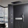 BathSelect Beautiful Touch Panel LED Shower Head with Thermostatic Valve & Sliding bar Shower Set