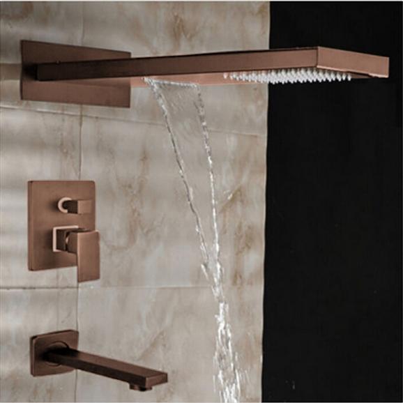 Rainfall /& Waterfall Oil Rubbed Bronze Shower Head 3 Ways Mixer Shower Faucet