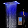 BathSelect LED European Ceiling Large Shower Head With Touch Panel Controller & Hand Held Shower