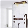 BathSelect LED Electric Power Embedded Ceiling 5-Way Shower Head With Body Jet & Hand-Held Shower
