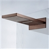 Bathselect Wall Mount Rain Waterfall Shower Head With Hand Shower
