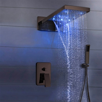 BathSelect Rectangular Style Shower Head Ceramic Valve Material With Hand Shower RUSTIC ORB SHOWER