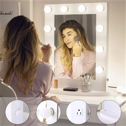 BathSelect Elegant Stylish LED 10 Dimmable Mirror-White Vanity Mirror