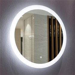 BathSelect Classy Silver With White LED Back Light Wall Mirror & Round Shape Strip