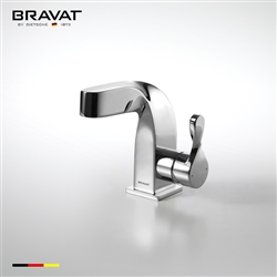 Bravat Deck Mount Single Hole Chrome Finish Faucet