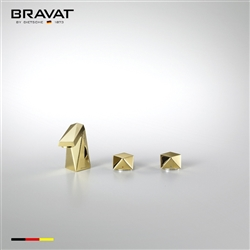 Bravat Solid Brass Gold Finish Bathroom Faucet