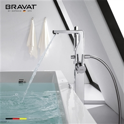 Bravat Free Standing Chrome Bathtub And Bathroom Mixer Faucet