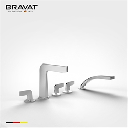 Bravat Sleek Clawfoot Designed Bathtub Faucet