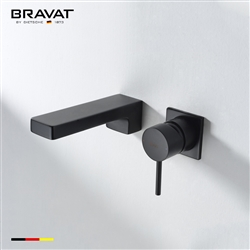 Bravat Black Ceramic Valve Heater Wall Mount Faucet