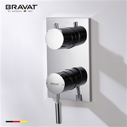 Bravat Solid Brass Wall Mount Shower Mixer