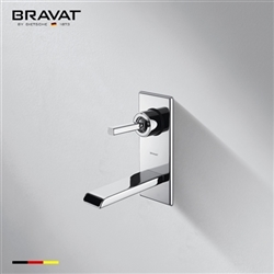 Bravat Wall Mounted Square Shower Faucet-