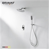 Bravat Wall Mount Bathtub And Shower Faucet With Two Way Valve