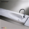 Bravat Luxury Ceramic Scalene Triangle Sink