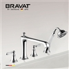 Bravat Bathtub Faucet With Handheld Shower In Chrome