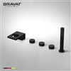 Bravat Oil Rubbed Bronze Finish Deck Mount Faucet With Hand Held Shower