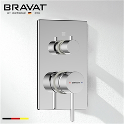 Bravat Chrome Finish 2-Way Hot & Cold Shower Mixer Valve