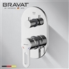 Bravat Chrome Finish Wall Mount Thermostatic Mixer