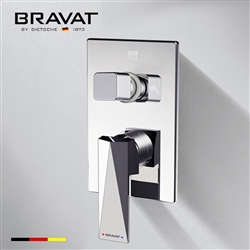 Bravat Chrome Finish Wall Mount Dual Handle Thermostatic Mixer