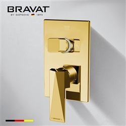 Bravat Shower Mixer In Gold Finish