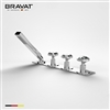 Bravat Triple Crystal Handle Deck Mounted With Hand Held Shower