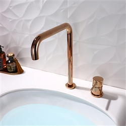 Deck Mount Single Handle Faucet In Rose Gold Finish