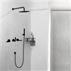 Seattle Contemporary Wall Mounted Hot and Cold Bathroom Shower Set in Oil Rubbed Bronze Finish