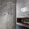 Seattle Contemporary Wall Mount Hot and Cold Bathroom Shower Set in Chrome Finish