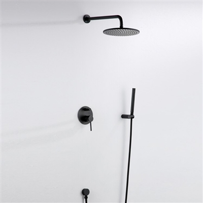Seirra Dark Oil Rubbed Bronze Finish Rainfall Shower Set With Tub Spout And Hand Shower