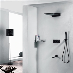 Sierra Rectangular Style Wall Mount Shower Set With Hand Shower In Dark Oil Rubbed Bronze Finish