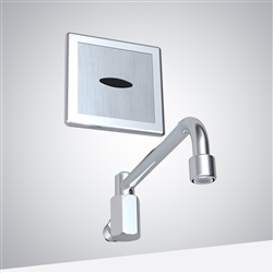 Wella Wall Mount Child Lock Motion Sensor Faucet In Chrome Finish
