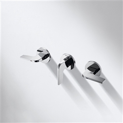 Bravat Dual Handle Wall Mount Motion Sensor Faucet In Chrome Finish