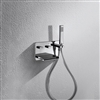 Bravat Wall Mount Bathtub Waterfall Faucet With Handheld Shower