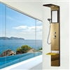 Penne Gold Finish Shower Panel System With Rainfall Shower And Body Massage Jet