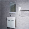 Romania Contemporary Wall Mount Bathroom  Mirror And Vanity Cupboard With Ceramic Sink