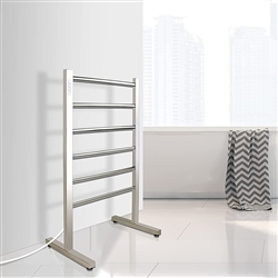 BathSelect Morino Stainless Steel 6 Bar Floor Mount Towel Warmer In Chrome Finish