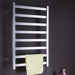 BathSelect Stainless Steel 8 Bar Wall Mount Towel Warmer With Concealed Wiring In Chrome Finish