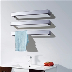 BathSelect 3 Bar Wall Mount Electric Towel Warmer In Chrome Finish