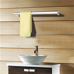BathSelect Stainless Steel Single Rail Electric Towel Warmer