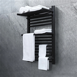 BathSelect Double Layer Electric Towel Warmer With Intelligent Temperature Control In Dark Oil Rubbed Bronze Finish