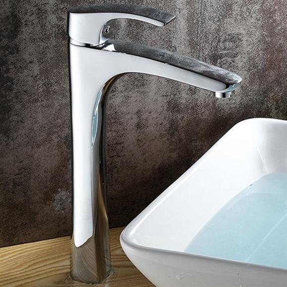 Shop Cagliari Single Handle Deck Mounted Bathroom Sink Faucet At ...
