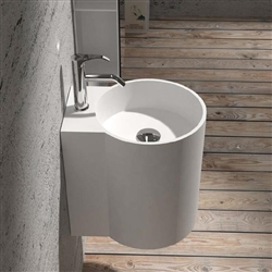 Rochester Round Shaped Ceramic Sink With Attached Chrome Faucet