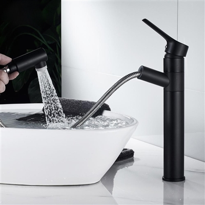 BathSelect European Style Freestanding Deck Mount Pull Out Faucet