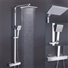 BathSelect Lamia Thermostatic Wall Mount Shower Set