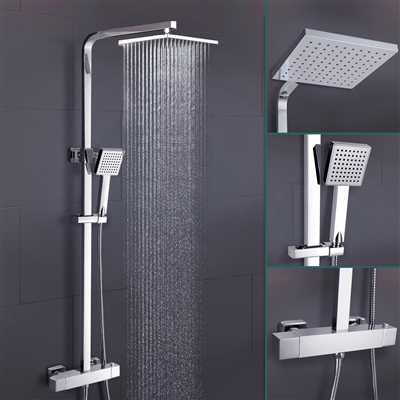 Lamia Thermostatic Wall Mount Shower Set