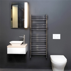 BathSelect Wall Mount Chrome Finish Electric Bar Towel Warmer