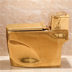 Lavatory in shiny gold