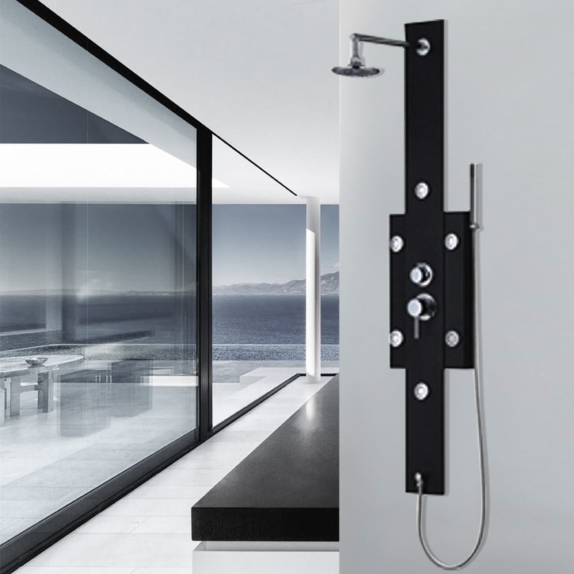 Fontana Arcadia stainless steel shower panels