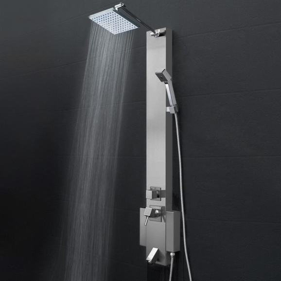 Buy Reno Fontana Hammer Stainless Steel Rainfall Shower Panel With ...