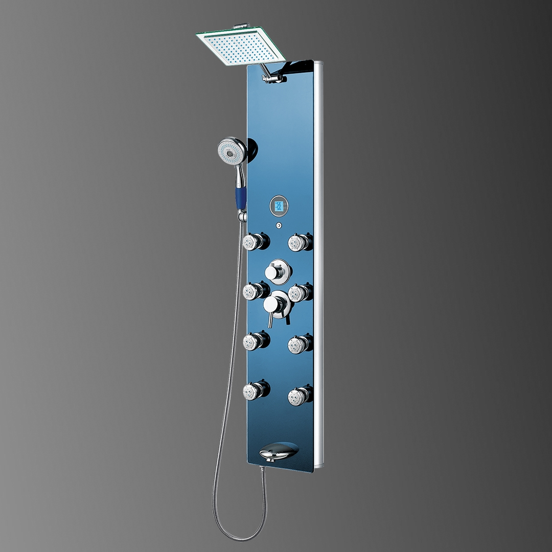 Buy Fontana Blue Tempered Glass Multi-Function Massage Jets Rainfall ...