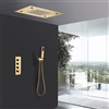 Fontana 20 Inch LED Gold Thermostatic Shower Panel Set